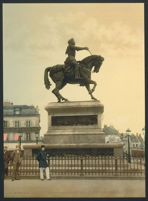 [Statue of Joan of Arc by Foyatier in the Martyrs' Place, Orléans, France]