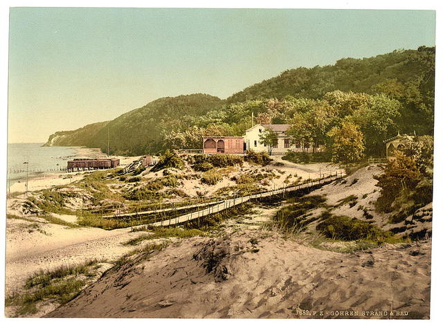 [Strand and baths, Gohren, Isle of Rugen, Germany]