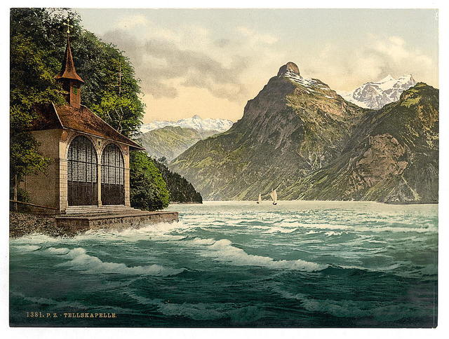 [Tell's Chapel, Lake Lucerne, Switzerland]