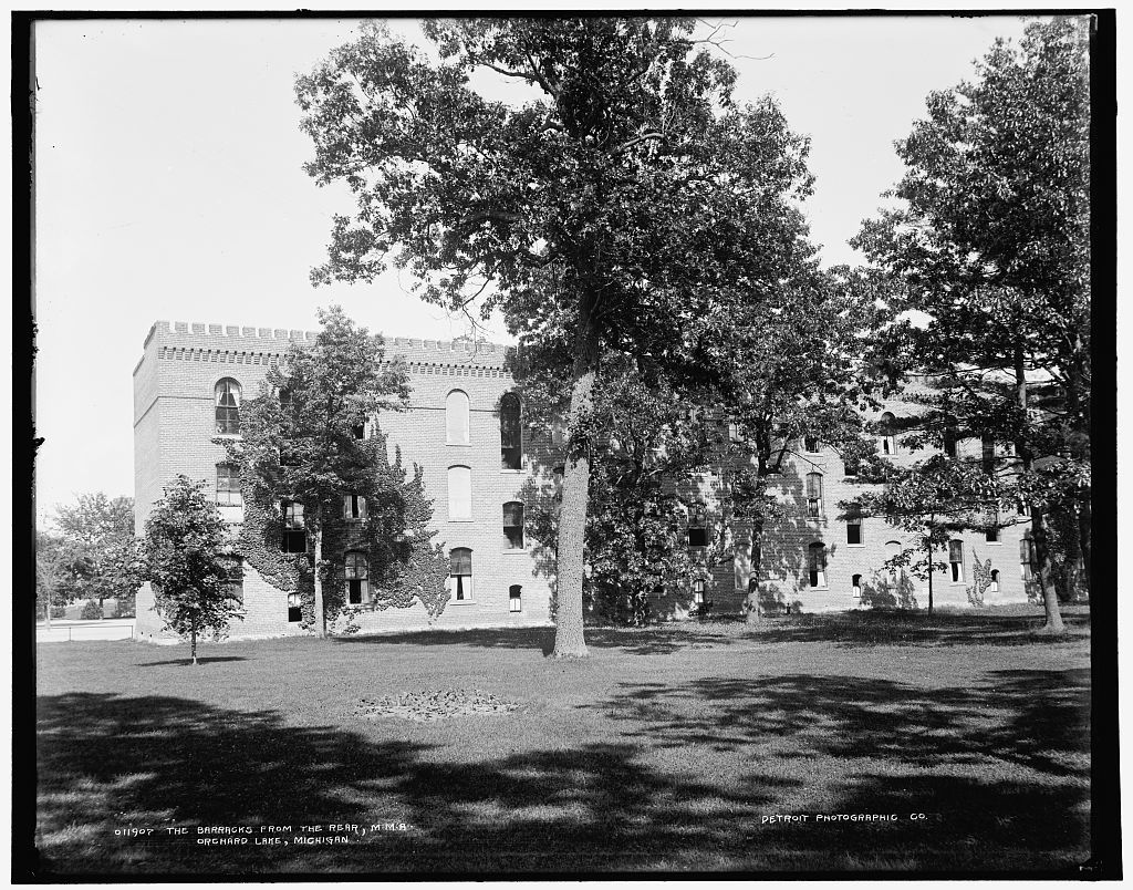 The Barracks from the rear, M.M.A., Orchard Lake, Michigan