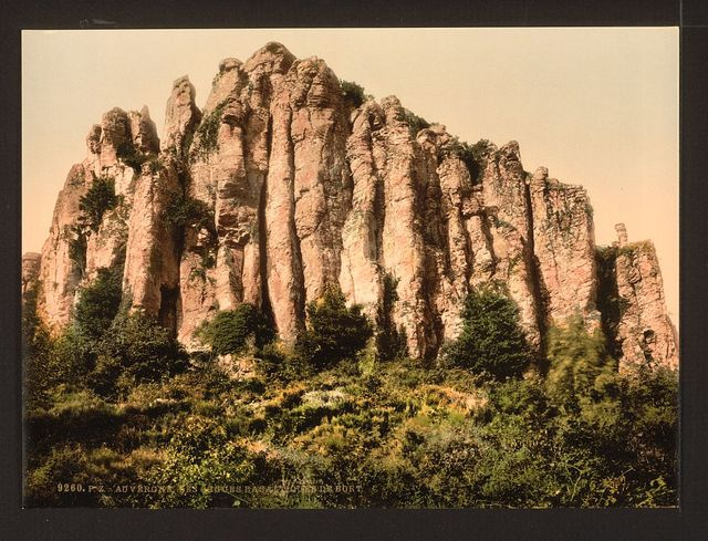 [The Basaltic rocks at Bort, Auvergne Mountains, France]