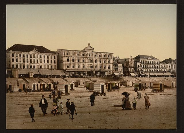 [The beach and hotels, Blankenberghe, Belgium]
