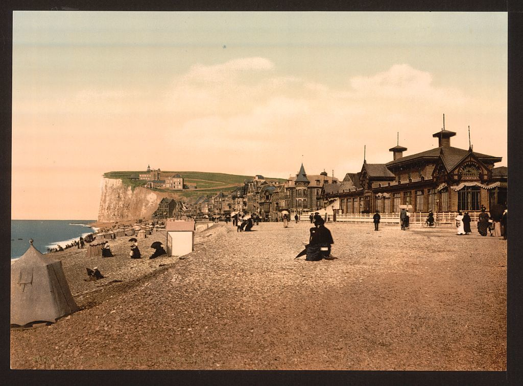 [The beach, sea baths, Tréport, France]