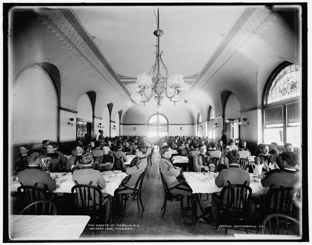 The Cadets at mess, M.M.A., Orchard Lake, Michigan