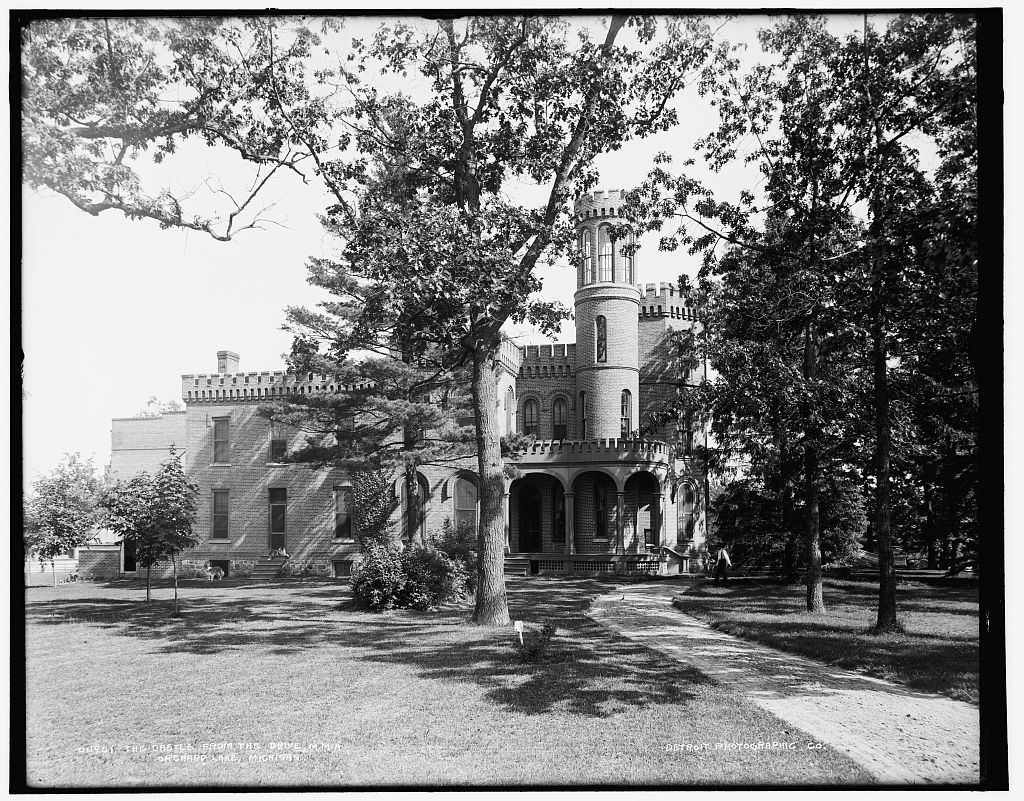 The Castle from the drive, M.M.A., Orchard Lake, Michigan