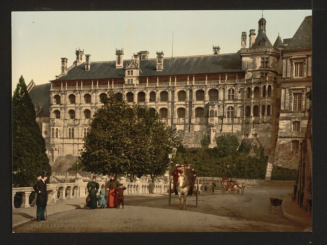 [The Castle, wing of Francis I, the facade, Blois, France]