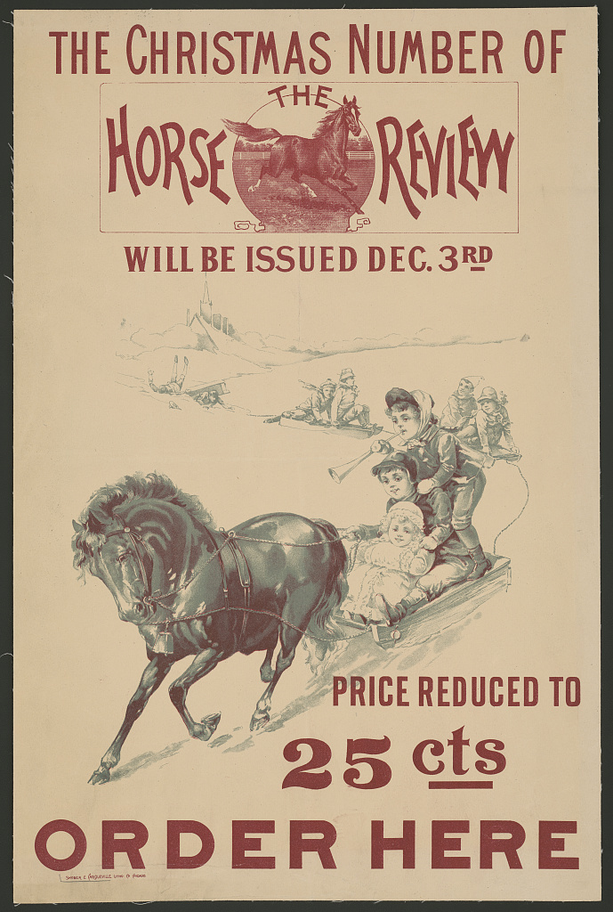 The Christmas number of the Horse Review will be issued Dec. 3rd