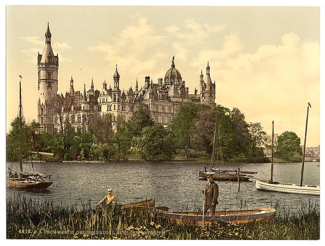[The ducal castle, east side, Schwerin, Mecklenburg-Schwerin, Germany]