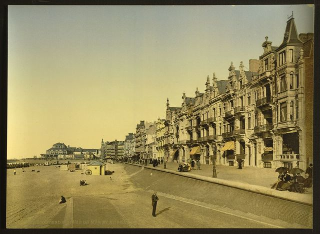 [The embankment and Kursaal, (i.e., Cursaal), Ostend, Belgium]