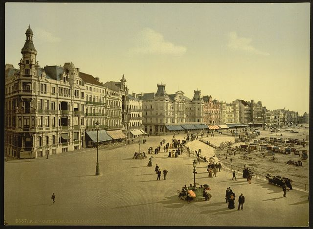 [The embankment, west part, Ostend, Belgium]