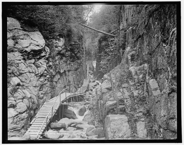 The Flume, looking up, Franconia Notch, White Mountains
