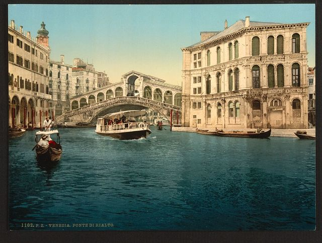 [The Grand Canal with the Rialto Bridge, Venice, Italy]