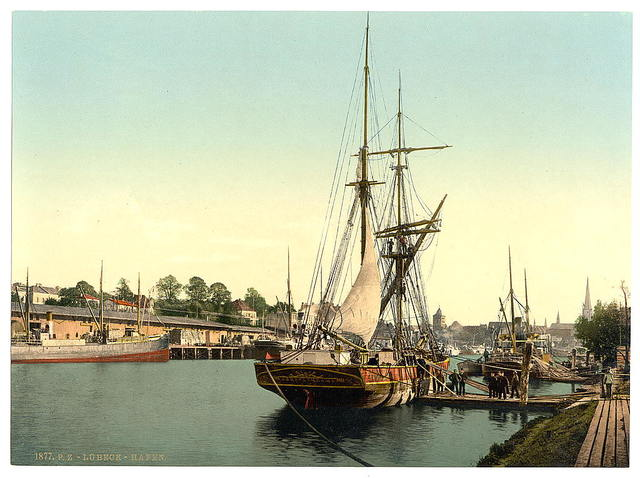 [The harbor, Lubeck, Germany]