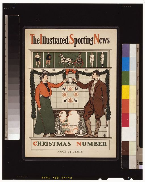 The Illustrated sporting news. Christmas number / Drawn by Edward Penfield.