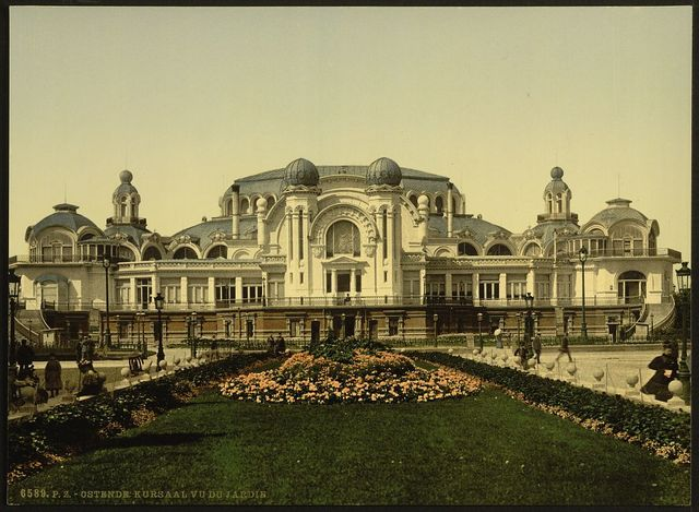 [The Kursaal, (i.e., Cursaal), seen from garden, Ostend, Belgium]