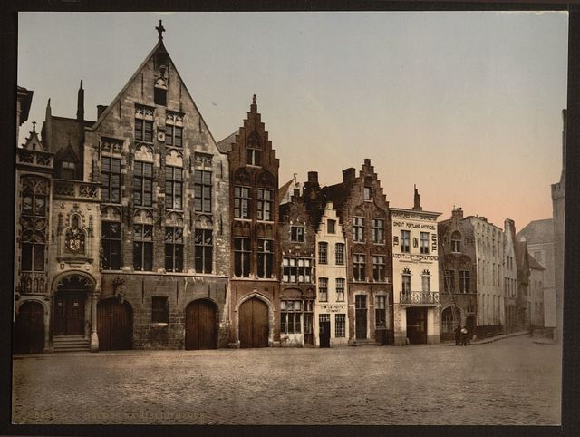 [The library, Bruges, Belgium]