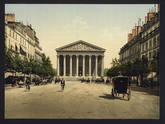 [The Madeleine, and rue Royale, Paris, France]