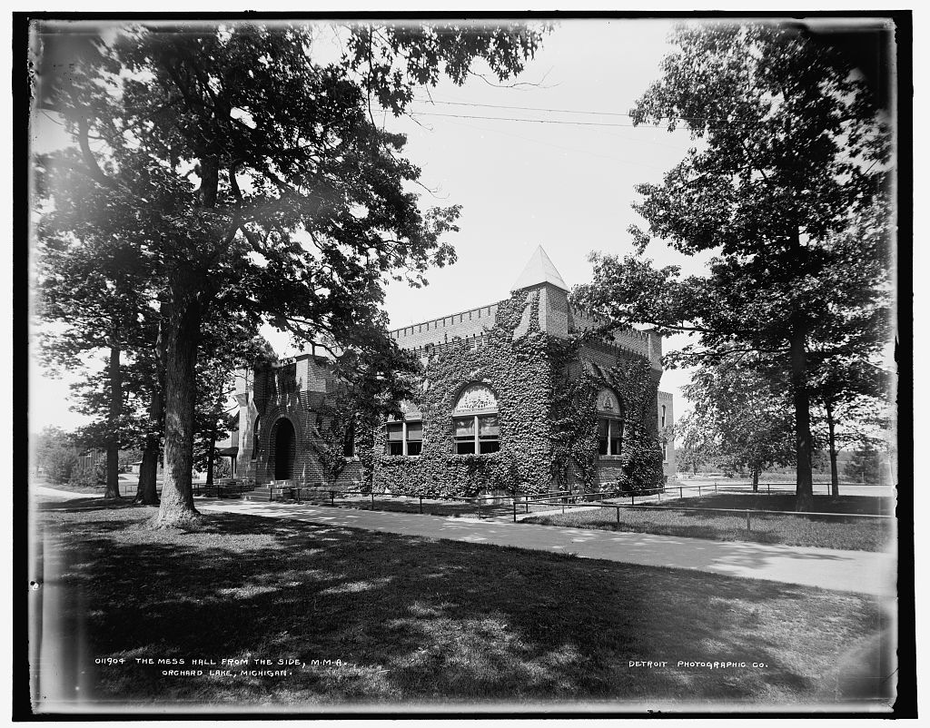 The Mess hall from the side, M.M.A., Orchard Lake, Michigan