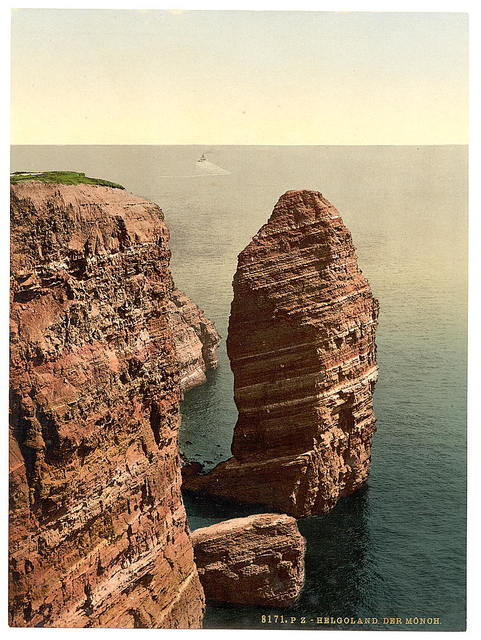 """[The """"Monk"""" from above, Helgoland, Germany]"""