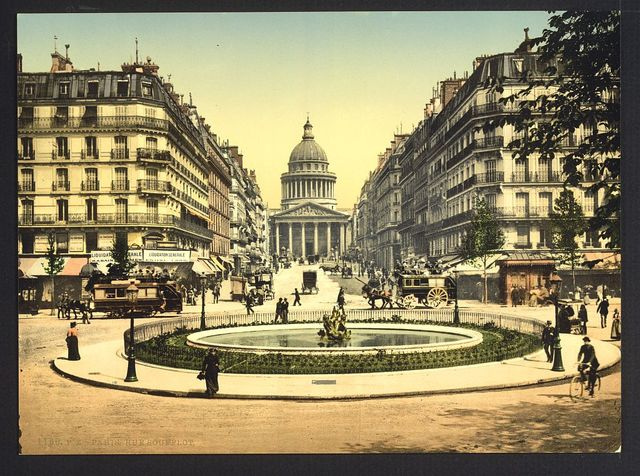 [The Pantheon and the rue Soufflot, Paris, France]