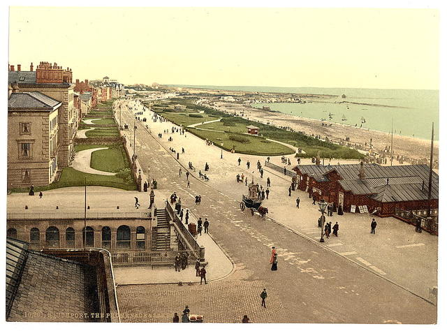 [The promenade and lakes, Southport, England]