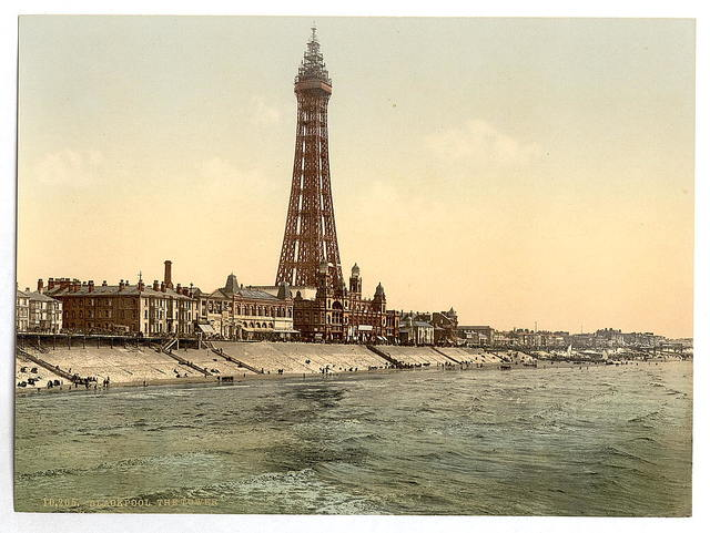 [The Promenade and Tower from North Pier, Blackpool, England]