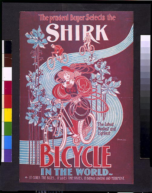 The Prudent buyer selects the Shirk, the latest, neatest, and lightest bicycle in the world / Ottman, Chic.