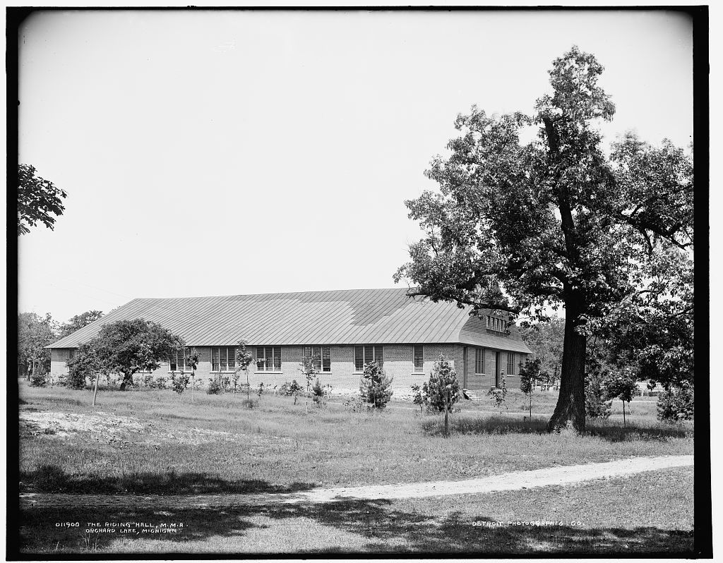 The Riding hall, M.M.A., Orchard Lake, Michigan
