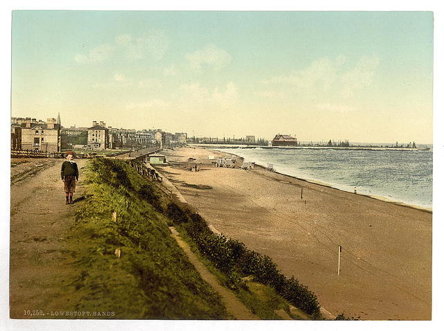[The sands from Royal Hotel, Lowestoft, England]