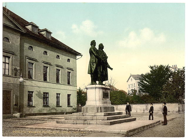 [The Schiller and Goethe Monument, Weimar, Thuringia, Germany]