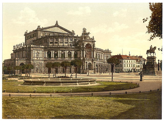 [The theatre, Altstadt, Dresden, Saxony, Germany]