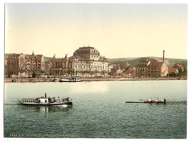 [The theatre and Utoquay, Zurich, Switzerland]