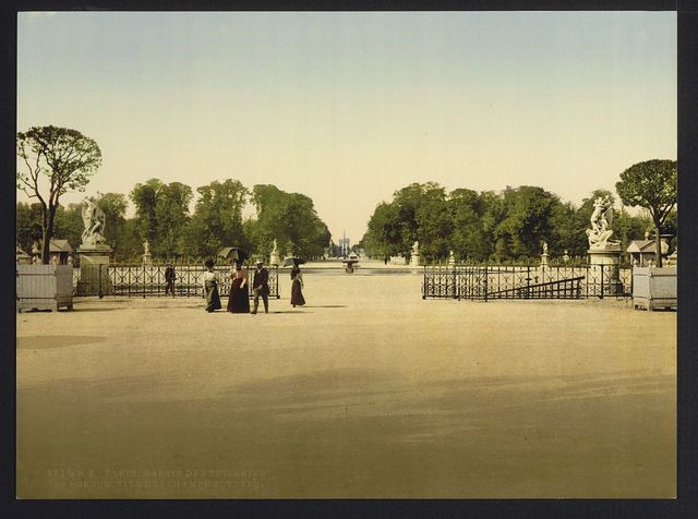 [The Tuileries and Champs Elysees, Paris, France]