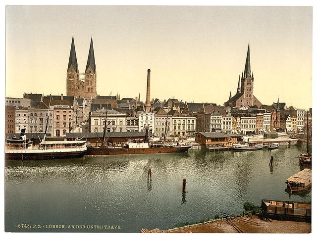 [The Unter Trave, near Holsenthor, Lubeck, Germany]
