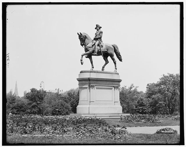 The Washington statue, Public Garden, Boston