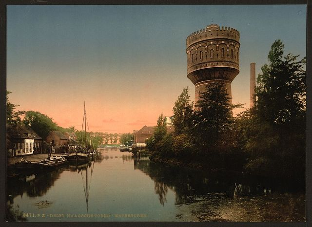 [The water tower, Delft, Holland]