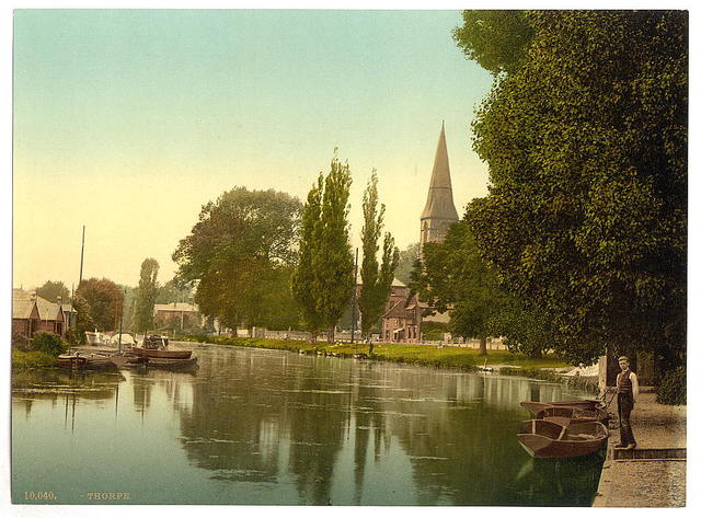 [Thorpe, church and river, Norwich, England]