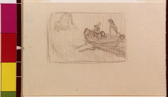 [Three people in boat]