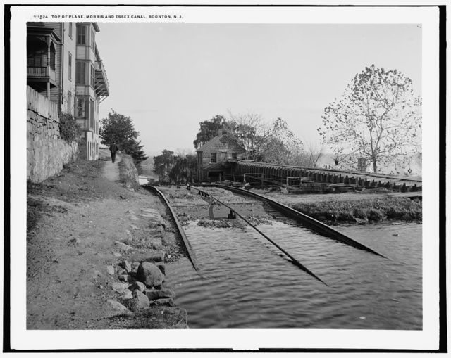 Top of plane, Morris and Essex canal, Boonton, N.J.