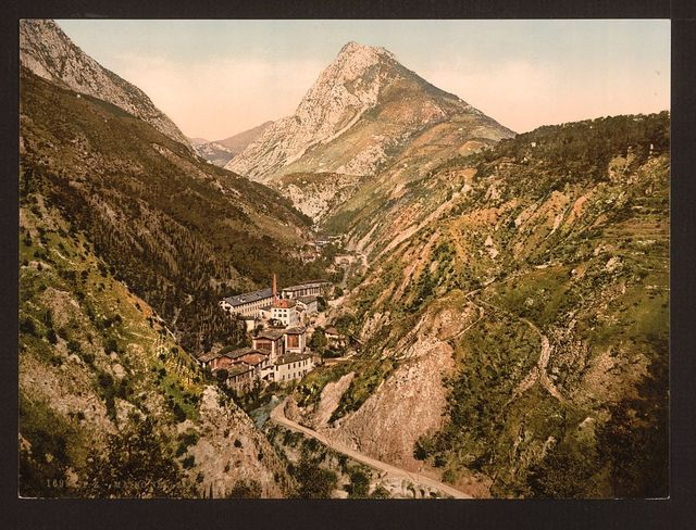 [Toscolana (i.e. Toscolano) Valley at Maino, general view, Lake Garda, Italy]