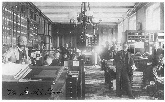 Treasury Dept. employees - Mr. Smith's room