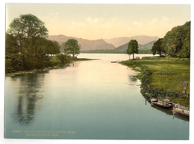 [Ullswater and River Eamont from Pooley Bridge, Lake District, England]
