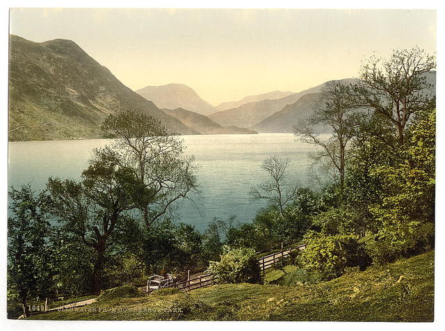 [Ullswater, from Gowbarrow Park, Lake District, England ]