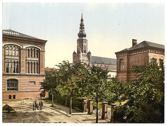 [University Library,Nicholas Church and Physiological Institute, Griefswald (i.e., Greifswald), Pomerania, Germany]