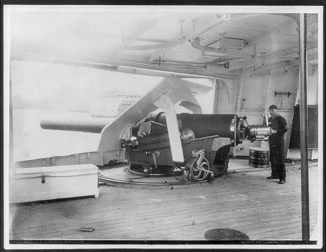 U.S.S. Atlanta 6 inch gun