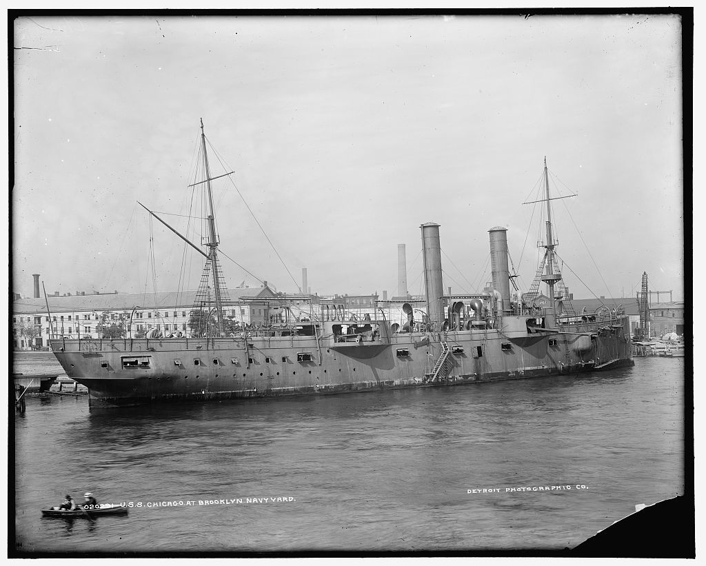 U.S.S. Chicago at Brooklyn Navy Yard