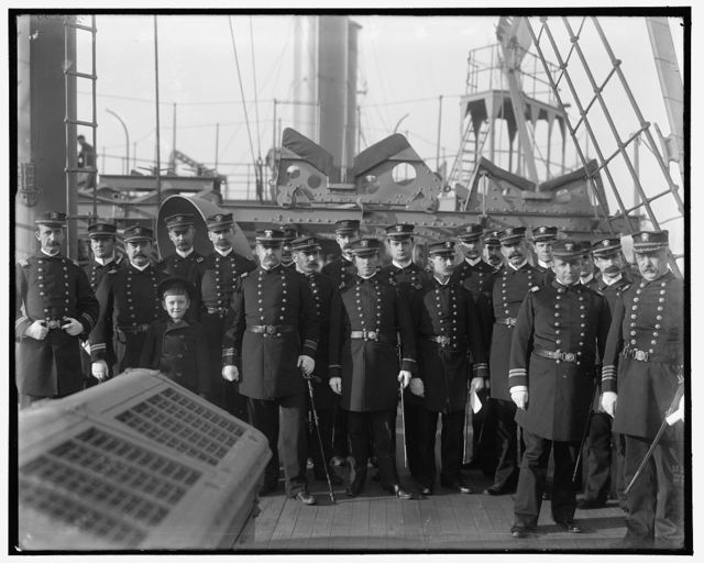 [U.S.S. Chicago, the captain and officers]