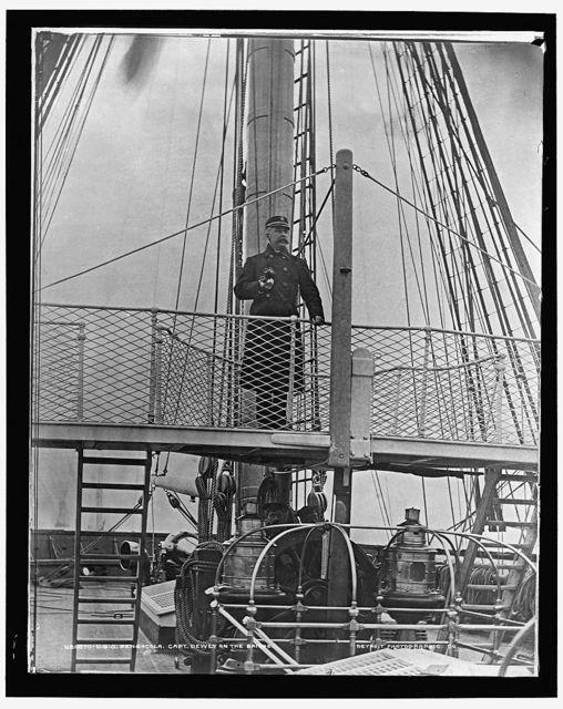 U.S.S. Pensacola, Capt. Dewey on the bridge
