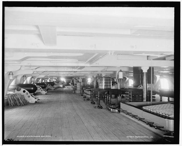 U.S.S. Richmond, gun deck