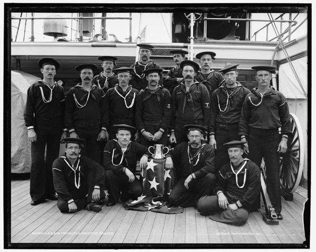 U.S.S. San Francisco, a group of sailors